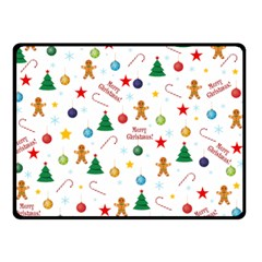 Christmas Pattern Double Sided Fleece Blanket (small)  by Valentinaart