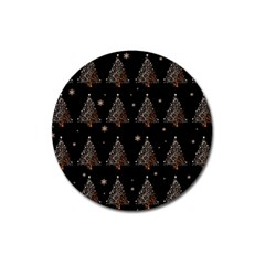 Christmas Tree   Pattern Magnet 3  (round) by Valentinaart