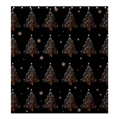 Christmas Tree   Pattern Shower Curtain 66  X 72  (large)  by Valentinaart