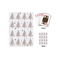 Christmas Tree   Pattern Playing Cards (mini)  by Valentinaart