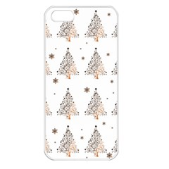 Christmas Tree   Pattern Apple Iphone 5 Seamless Case (white) by Valentinaart