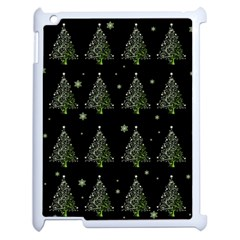 Christmas Tree   Pattern Apple Ipad 2 Case (white) by Valentinaart