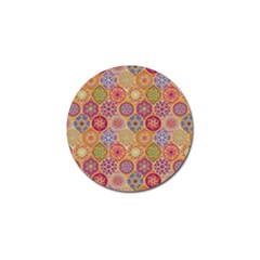 Bohemian Pattern Eye Orange Golf Ball Marker (4 Pack) by Cveti