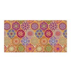 Bohemian Pattern Eye Orange Satin Wrap