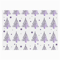 Christmas Tree   Pattern Large Glasses Cloth (2 Side) by Valentinaart