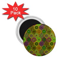 Bohemian Hand Drawing Patterns Green 01 1 75  Magnets (10 Pack)  by Cveti