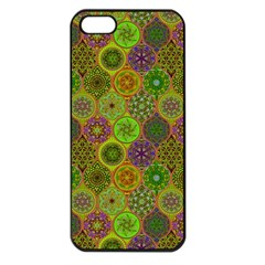 Bohemian Hand Drawing Patterns Green 01 Apple Iphone 5 Seamless Case (black) by Cveti