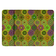 Bohemian Hand Drawing Patterns Green 01 Samsung Galaxy Tab 8 9  P7300 Flip Case by Cveti