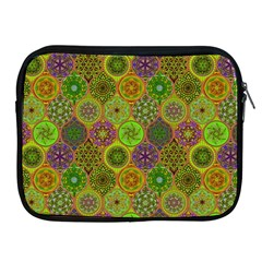 Bohemian Hand Drawing Patterns Green 01 Apple Ipad 2/3/4 Zipper Cases by Cveti