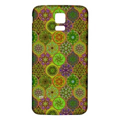 Bohemian Hand Drawing Patterns Green 01 Samsung Galaxy S5 Back Case (white) by Cveti