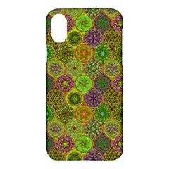 Bohemian Hand Drawing Patterns Green 01 Apple Iphone X Hardshell Case