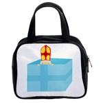 Funny Cute Kids Art St.Nicholas St. Nick Sinterklaas hiding in a Gift Box Classic Handbags (2 Sides) Front