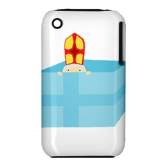 Funny Cute Kids Art St Nicholas St  Nick Sinterklaas Hiding In A Gift Box Iphone 3s/3gs by yoursparklingshop