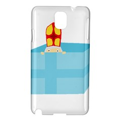 Funny Cute Kids Art St Nicholas St  Nick Sinterklaas Hiding In A Gift Box Samsung Galaxy Note 3 N9005 Hardshell Case by yoursparklingshop