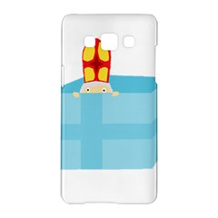 Funny Cute Kids Art St Nicholas St  Nick Sinterklaas Hiding In A Gift Box Samsung Galaxy A5 Hardshell Case  by yoursparklingshop