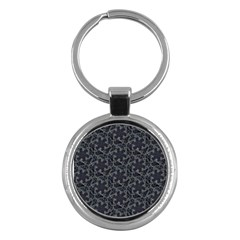 Whirligig Pattern Hand Drawing Grey Key Chains (round)  by Cveti