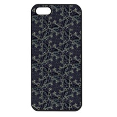 Whirligig Pattern Hand Drawing Grey Apple Iphone 5 Seamless Case (black) by Cveti