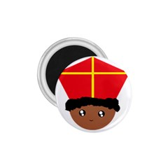 Cutieful Kids Art Funny Zwarte Piet Friend Of St  Nicholas Wearing His Miter 1 75  Magnets by yoursparklingshop