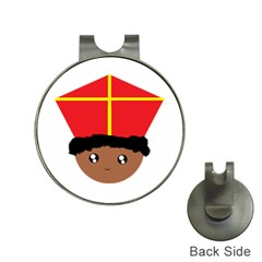 Cutieful Kids Art Funny Zwarte Piet Friend Of St  Nicholas Wearing His Miter Hat Clips With Golf Markers by yoursparklingshop