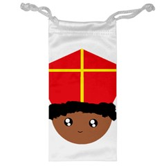 Cutieful Kids Art Funny Zwarte Piet Friend Of St  Nicholas Wearing His Miter Jewelry Bag by yoursparklingshop