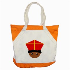 Cutieful Kids Art Funny Zwarte Piet Friend Of St  Nicholas Wearing His Miter Accent Tote Bag by yoursparklingshop