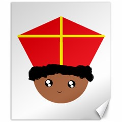 Cutieful Kids Art Funny Zwarte Piet Friend Of St  Nicholas Wearing His Miter Canvas 20  X 24   by yoursparklingshop