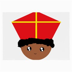 Cutieful Kids Art Funny Zwarte Piet Friend Of St  Nicholas Wearing His Miter Large Glasses Cloth by yoursparklingshop