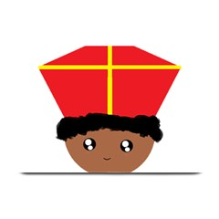 Cutieful Kids Art Funny Zwarte Piet Friend Of St  Nicholas Wearing His Miter Plate Mats by yoursparklingshop