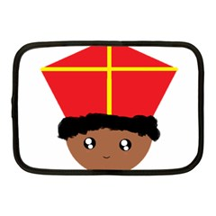 Cutieful Kids Art Funny Zwarte Piet Friend Of St  Nicholas Wearing His Miter Netbook Case (medium)  by yoursparklingshop