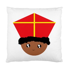Cutieful Kids Art Funny Zwarte Piet Friend Of St  Nicholas Wearing His Miter Standard Cushion Case (one Side) by yoursparklingshop