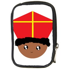 Cutieful Kids Art Funny Zwarte Piet Friend Of St  Nicholas Wearing His Miter Compact Camera Cases by yoursparklingshop