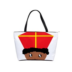 Cutieful Kids Art Funny Zwarte Piet Friend Of St  Nicholas Wearing His Miter Shoulder Handbags by yoursparklingshop