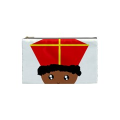 Cutieful Kids Art Funny Zwarte Piet Friend Of St  Nicholas Wearing His Miter Cosmetic Bag (small)  by yoursparklingshop