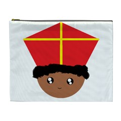 Cutieful Kids Art Funny Zwarte Piet Friend Of St  Nicholas Wearing His Miter Cosmetic Bag (xl) by yoursparklingshop