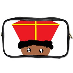Cutieful Kids Art Funny Zwarte Piet Friend Of St  Nicholas Wearing His Miter Toiletries Bags 2 Side by yoursparklingshop
