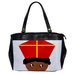 Cutieful Kids Art Funny Zwarte Piet Friend Of St  Nicholas Wearing His Miter Office Handbags by yoursparklingshop