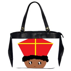 Cutieful Kids Art Funny Zwarte Piet Friend Of St  Nicholas Wearing His Miter Office Handbags (2 Sides)  by yoursparklingshop