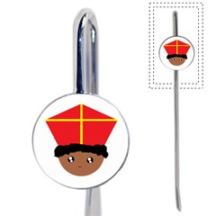 Cutieful Kids Art Funny Zwarte Piet Friend Of St  Nicholas Wearing His Miter Book Mark by yoursparklingshop