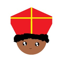 Cutieful Kids Art Funny Zwarte Piet Friend Of St  Nicholas Wearing His Miter 5 5  X 8 5  Notebooks by yoursparklingshop