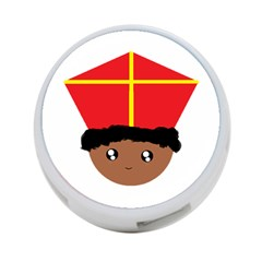 Cutieful Kids Art Funny Zwarte Piet Friend Of St  Nicholas Wearing His Miter 4 Port Usb Hub (one Side) by yoursparklingshop