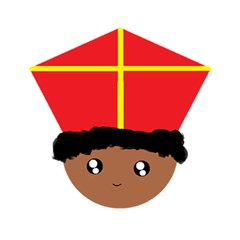 Cutieful Kids Art Funny Zwarte Piet Friend Of St  Nicholas Wearing His Miter Magic Photo Cubes by yoursparklingshop