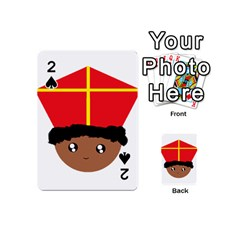Cutieful Kids Art Funny Zwarte Piet Friend Of St  Nicholas Wearing His Miter Playing Cards 54 (mini)  by yoursparklingshop