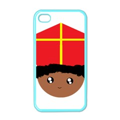 Cutieful Kids Art Funny Zwarte Piet Friend Of St  Nicholas Wearing His Miter Apple Iphone 4 Case (color) by yoursparklingshop