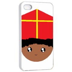Cutieful Kids Art Funny Zwarte Piet Friend Of St  Nicholas Wearing His Miter Apple Iphone 4/4s Seamless Case (white) by yoursparklingshop