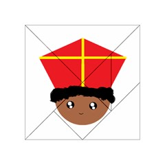 Cutieful Kids Art Funny Zwarte Piet Friend Of St  Nicholas Wearing His Miter Acrylic Tangram Puzzle (4  X 4 ) by yoursparklingshop