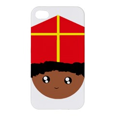 Cutieful Kids Art Funny Zwarte Piet Friend Of St  Nicholas Wearing His Miter Apple Iphone 4/4s Premium Hardshell Case by yoursparklingshop