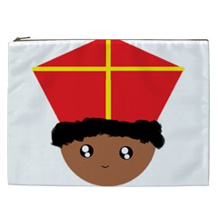 Cutieful Kids Art Funny Zwarte Piet Friend Of St  Nicholas Wearing His Miter Cosmetic Bag (xxl)  by yoursparklingshop