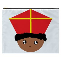 Cutieful Kids Art Funny Zwarte Piet Friend Of St  Nicholas Wearing His Miter Cosmetic Bag (xxxl)  by yoursparklingshop