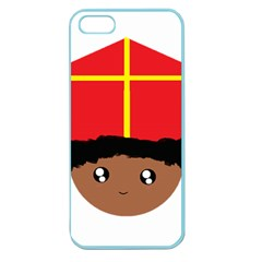 Cutieful Kids Art Funny Zwarte Piet Friend Of St  Nicholas Wearing His Miter Apple Seamless Iphone 5 Case (color) by yoursparklingshop