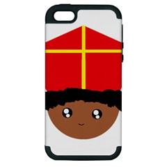 Cutieful Kids Art Funny Zwarte Piet Friend Of St  Nicholas Wearing His Miter Apple Iphone 5 Hardshell Case (pc+silicone) by yoursparklingshop